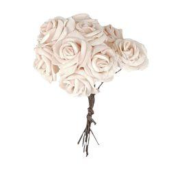 Polifoam rózsa, rózsaszín, 10 szál/csokor