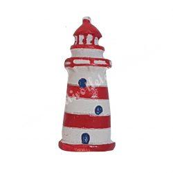 Ragasztható világítótorony, piros, 2x5 cm