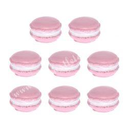 Polyresin macaron, rózsaszín