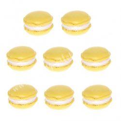 Polyresin macaron, sárga