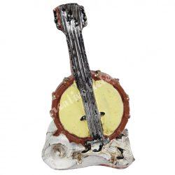 Polyresin bendzsó, 3,5x5,5 cm