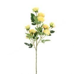 Selyem rózsa 9 virággal, sárga