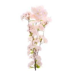 Selyem cseresznyevirág ág, rózsaszín, 150 cm