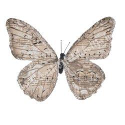 Pillangó csipesszel, glitteres papír, 5x5 cm