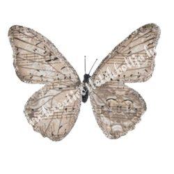 Pillangó csipesszel, glitteres papír, 10,5x10 cm