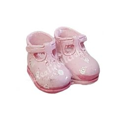 Polyresin babycipő, rózsaszín