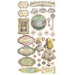 Chipboard, Alice gold, 15x30 cm
