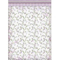Rizspapír, Lila virágok, A3 (3026)