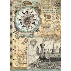 Rizspapír, Fantasztikus utazás, óra, A3 (3035)