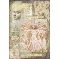 Rizspapír, Leonardo Vitruviano, A3 (3045)
