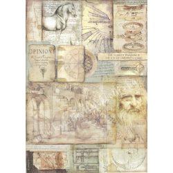 Rizspapír, Leonardo művei, A3 (3046)
