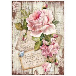 Rizspapír, Sweet Time Rose, A4 (4254)