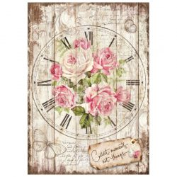 Rizspapír, Sweet time Clock Bouquet, A4 (4255)