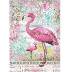 Rizspapír, flamingó (4273)