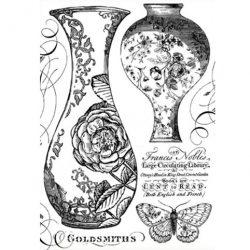 Rizspapír, Rózsás vázák, A4 (4303)