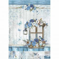 Rizspapír, kék világ ablak, A4 (4338)
