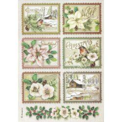 Rizspapír, Téli botanikus kártyák. A4