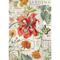 Rizspapír, Vegyes virágok, (4356)