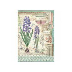 Rizspapír, botanikus virágok hagymával (A4)