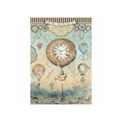 Rizspapír, fantasztikus utazás légballonok (A4)