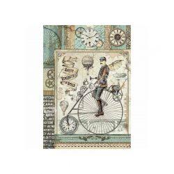 Rizspapír, fantasztikus utazás retro bicikli (A4)