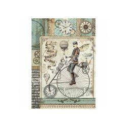 Rizspapír, fantasztikus utazás retro bicikli, A4 (4371)