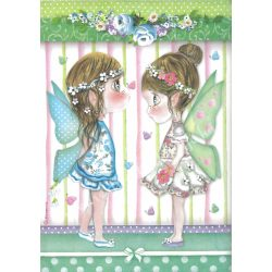 Rizspapír, tündérkék pillangókkal, A4