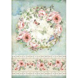 Rizspapír, Rózsák és pillangók, A4 (4445)