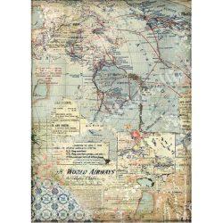 Rizspapír, Térképek