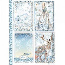 Rizspapír, Karácsonyi minta, A4 (4490)