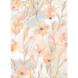 Rizspapír, Akvarell virágok. A4 (4501)