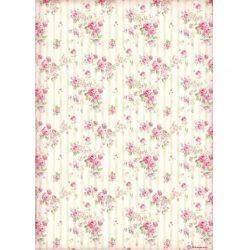 Rizspapír, Rózsás tapéta (4505)