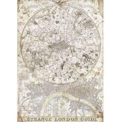 Rizspapír, Lady Vagabond - Londoni térkép, A4 (4522)