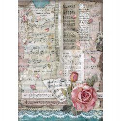 Rizspapír, Szenvedély - Rózsák és zene, A4 (4539)