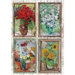 Rizspapír, Szalon - Van Gogh, A4 (4549)