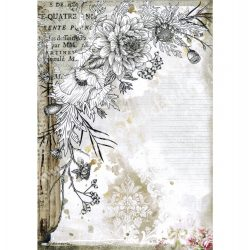Rizspapír, Romantika - Stilizált virág, A4 (4553)
