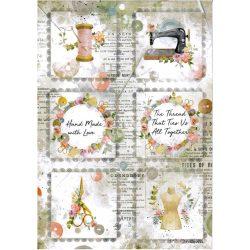 Rizspapír, Romantika - mini kártyák, A4 (4568)