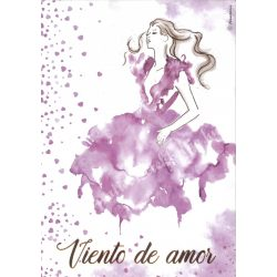 Sziluett rizspapír szalvéta, Viento de amor, A4