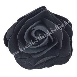 Polifoam rózsa, 6x5 cm, 37. fekete