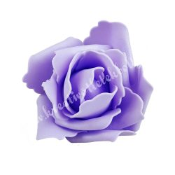 Polifoam rózsa, 6x5 cm, 10. Levendulalila