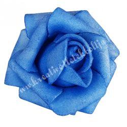 Polifoam rózsa, 3,5x2,5 cm, 24., Kék