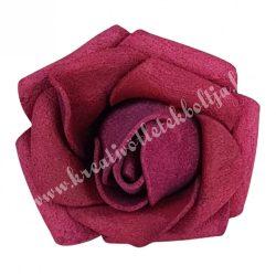 Polifoam rózsa, 3,5x2,5 cm, 26., burgundi