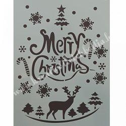 Stencil 24., Karácsonyi, 17,5X26 cm