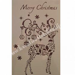 Stencil 26., Karácsonyi, 17,5X26 cm