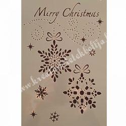 Stencil 25., Karácsonyi, 17,5X26 cm