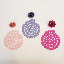 DIY papírvirág, rózsaszínes árnyalatok, 6 db/csomag