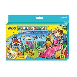 Amos üvegmatricafesték készlet 12x10,5ml