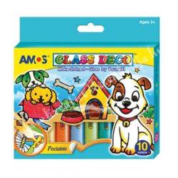 Amos üvegmatricafesték készlet 10x10,5ml (9szín+1kontúr)