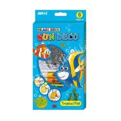 Amos üvegmatricafesték készlet, 6X10,5ML+6 trópusi hal fényvarázsforma