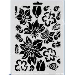 Stencil 127., Virágok 2., A4 (Cadence)